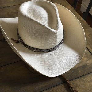 Renegade cream straw cowboy hat -small